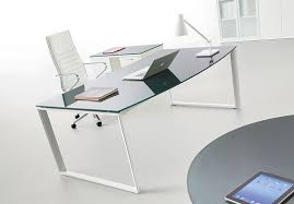 bureau verre blanc le bureau verre un plaisir utile mobilier de bureau