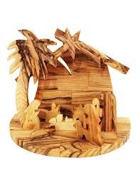 bethlehem olive wood bethlehem olive wood nativity set with palm tree