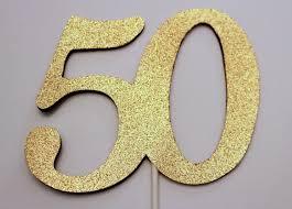 50th cake topper 50th glitter cake topper centerpiece 50