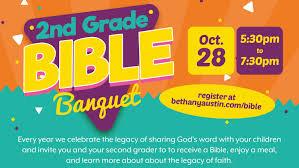 2nd grade bible banquet u2014 bethany lutheran