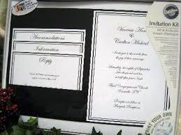 wedding invitations kits pocket wedding invitations kits cloveranddot