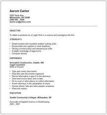 Resume For Law Clerk General Resume Samples General Office Clerk Resume Sample Vghbax