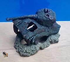 aquarium ornament tank war wreck cave hide fish tank cave new ebay