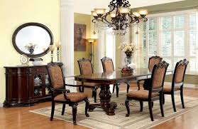 Upholstered Chairs Dining Room Dallas Designer Furniture Bellagio Formal Dining Room Set With