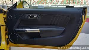 mustang door panel 2016 ford mustang gt in india door panel drive review