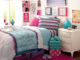 Girls Bedroom Zebra And Pink Blue Wall Paint Connected By White Steel Bed With Zebra Pattern
