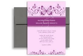 design templates print free wedding printables purple white butterfly printable wedding invitation 5x7 in