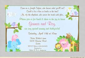 baby shower invitations jungle girl baby shower invitation colorful safari animals