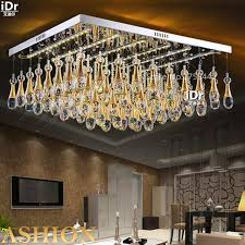 flat square ceiling lights flat crystal l led light square modern minimalist living room