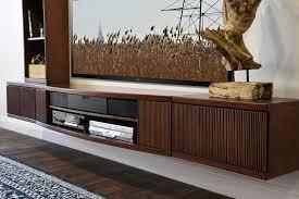 modern tv stands varnished wood floating media cabinet curve mocha piece bookcase
