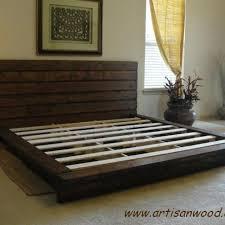 King Platform Bed Designs by Custom King Rustic Platform Bed By Artisan Wood Custommade Com
