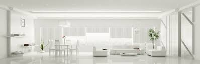 white home interiors interior of white apartment panorama 3d render stock photography