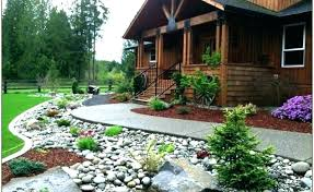 River Rock Garden Bed Landscaping With River Rock River Rock Garden Ideas The River
