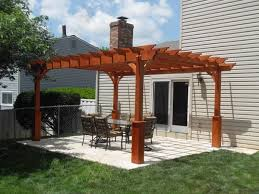 Wooden Pergolas For Sale by Wood Pergola Built By The Amish Lancaster County Backyard In Kinzers
