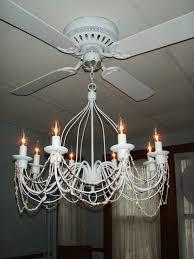 white pink ceiling fan with chandelier light kit ceiling fan