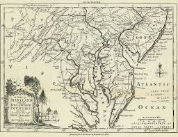 map of maryland delaware and new jersey map of maryland with the delaware counties