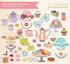 printable girly photo booth props tea party photo booth prop ladies tea party photo booth prop