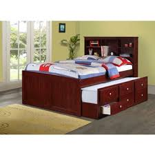 Beds With Bookshelves Full Size 3 Drawer Captain Bed With Twin Trundle Free Shipping