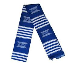 kente stoles buy kente stole blue and yellow stripes cloth graduation sash in