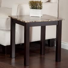 Marble Top Accent Table Elegant Marble Top Side Table Brown And Beige Marble Look Finish