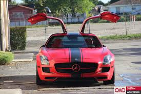 car mercedes red mercedes sls satin carmine red wrap
