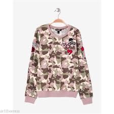 siege jennyfer jennyfer sweat imprimé camouflage 2426322