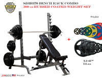 Body Solid Folding Bench Bowflex Fold Up Olympic Bench With 300 Lb Olympic Weight Set Ebay