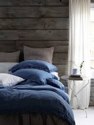 Blue Linen Bedding - linen bedding relaxed bedroom looks natural bed co