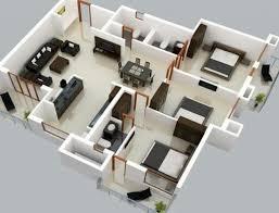 three room apartment home design interior of three room apartment 3 bedroom plans and 3d