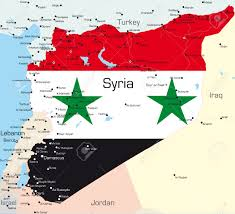 Map Of Syria by Abstract Vector Color Map Of Syria Country Colored By National