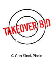 takeover bid takeover bid rubber st grunge design with dust clipart
