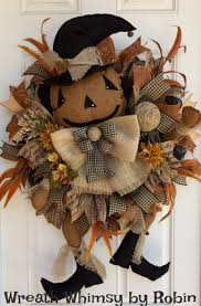xl fall deco mesh primitive jack o lantern wreath halloween