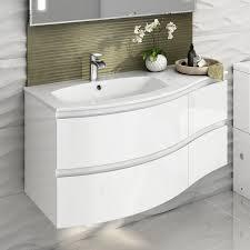 White Bathroom Vanity Units by Bathroom Cabinets White Wall Mount High Gloss Bathroom Cabinets