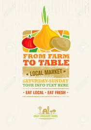 farm to table concept from farm to table fresh local food print concept creative organic