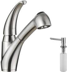 kraus kitchen faucets kraus kpf2110sd20 single lever stainless steel pull out kitchen