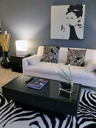 Zebra Print Table Lamp Furniture Cottage Living Room With Zebra Print Bench Seat Near