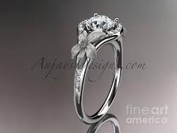 white gold diamond floral wedding ring engagement ring wedding
