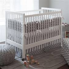 Gray Baby Crib Bedding Gray And White Dots And Stripes Crib Bedding Neutral Baby