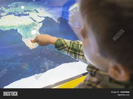 Africa On A Map by Child Pointing Africa On A Map Stock Photo U0026 Stock Images Bigstock