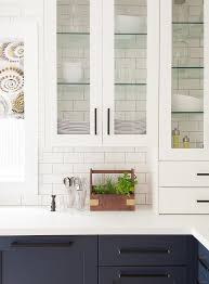 glass shelves for kitchen cabinets blue glass front kitchen cabinets design ideas