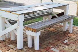 salvaged lumber picnic table build it amy allender dot com