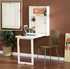 floating desk design uniqure folding floating desk design with armless brown chair wall