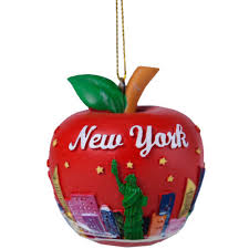apple skyline ornament