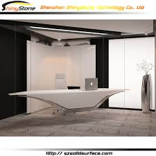 top office top office fashionable sliding wheel solid surface top office desk
