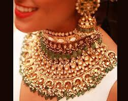 indian metal necklace images Indian jewelry etsy jpg