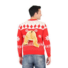 sweater with 3d sweater with stuffed moose