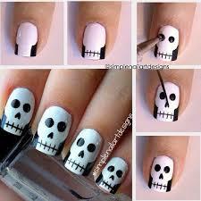 easy halloween nail art tutorials 2016 step by step halloween