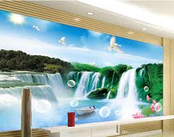 waterfall landscape water view tv wall mural 3d wallpaper 3d wall waterfall landscape water view tv wall mural 3d wallpaper 3d wall papers for tv backdrop beach wallpaper beach wallpapers from catherine198809100