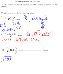 Fractions Decimals And Percents Worksheets 6th Grade Changing Decimals To Fractions Ppt Video Online Download