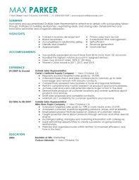 sales representative resume inside sales representative resume sle exles outside